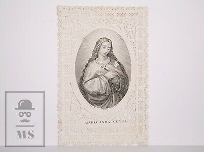 Antique Paper Lace Holy Card - Immaculate Conception / Virgin Mary