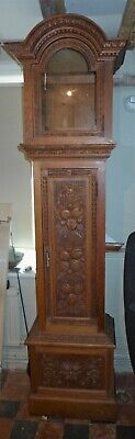 Late 19th Cent Carved Oak Longcase Clock Case