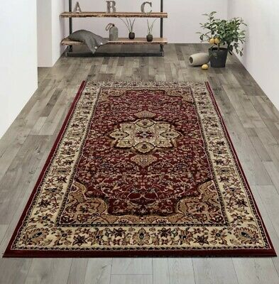 New Soft Small Large Classic Persian Traditional Rug Red Burgundy Long Runner
