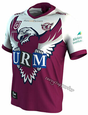 Manly Sea Eagles 2019 NRL Mens Community Jersey Sizes S-7XL BNWT