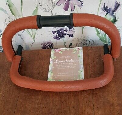 ICANDY PEACH faux leather handle bar & seat unit bumper COVERS ONLY Tan Quilted