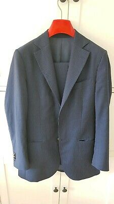 SUITSUPPLY LAZIO FIT Navy Jacket Sport Coat Super 110's 44S