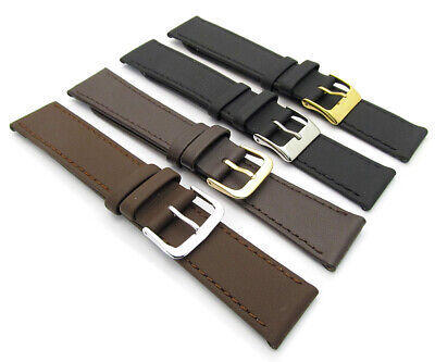 CONDOR Flat Calf Leather Watch Strap 123R 16mm 18mm 20mm Free Pins