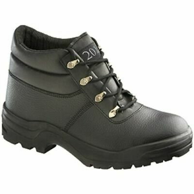 G201 Derby Boot Safety Shoes Black Leather Steel Toecap