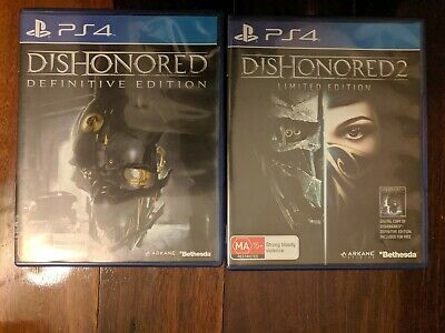 Dishonored Definitive Edition & Dishonored 2 Playstation 4 PS4 Games