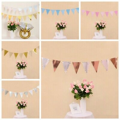 Birthday Party Baby Shower Party Decor Paper Flag Wavy Banner Bunting Garland