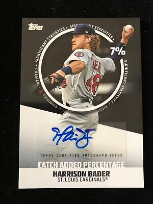 HARRISON BADER 2019 Topps Series 2 Significant Stats Auto Autograph Cards /50