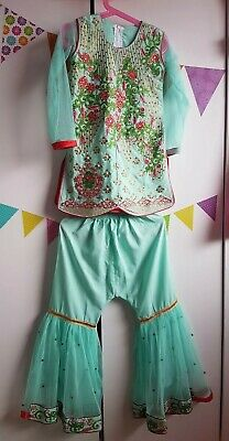 5 to 6 Year Old Asian Indian Pakistani Girls Sharara Kamiz Kurta Outfit