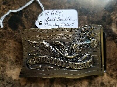 """Country Music"" Belt Buckle--Indiana Metal Craft 1977-L98"