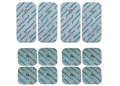 8 x Square And 4 x Large Compex Studded Electrode Tens Pads For Compex Machines