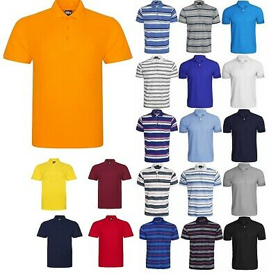 Brand New Mens Plain Polo Shirt Sports Golf T-Shirt Casual Polo Top Small To 7Xl