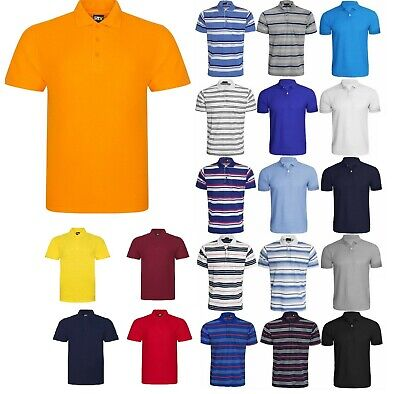 New Mens Plain Polo Shirt Sports Golf T-Shirt Casual Top Extra Small To 7Xl