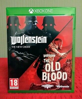 Wolfenstein The New Order, The Old Blood Xbox One Game 2-Disc Pack