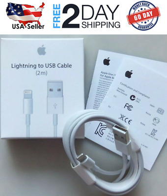 Apple Lightning Cable Authentic Apple OEM 2 Meters (6ft) Cable NEW in Retail Box