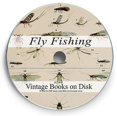 Rare Fly Fishing Books on DVD - Tying Flies Wet Dry Reel Salmon Trout Pike 298