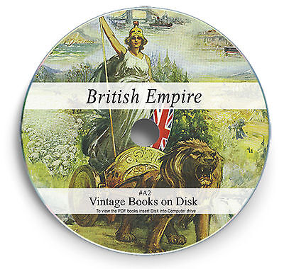 Rare Books on DVD - British Empire History Imperialism India Africa Burma Map A2