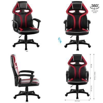 High Back Racing Style Faux Leather Executive Computer Gaming Office Chair Well