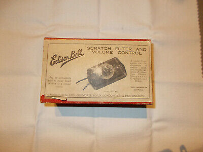 Edison Bell Scratch Filter and Volume Control - Grammophon Gramophone