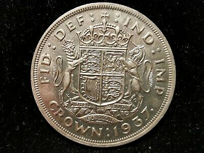 George VI, Silver (.500), Crown 1937 (Coronation), EF, M10237