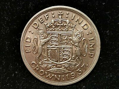 George VI, Silver (.500), Crown 1937 (Coronation), EF, M10240