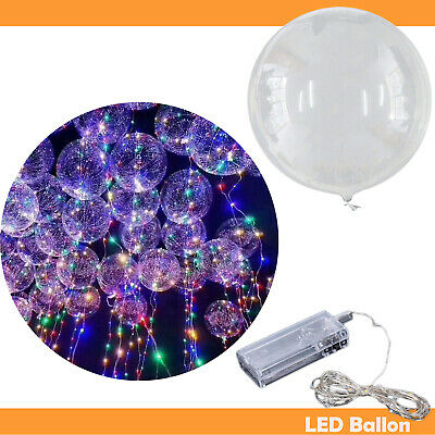 LED Ballon  Deko für Hochzeit Helium Gas party Dekoration Transparent Luftballon