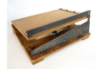Merretts vintage wood & metal  photo/paper small guillotine
