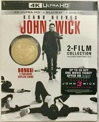 John Wick Collection 4K UHD Blu Ray Digital Chapter 3 $8 Movie Cash 2 Gold Coins