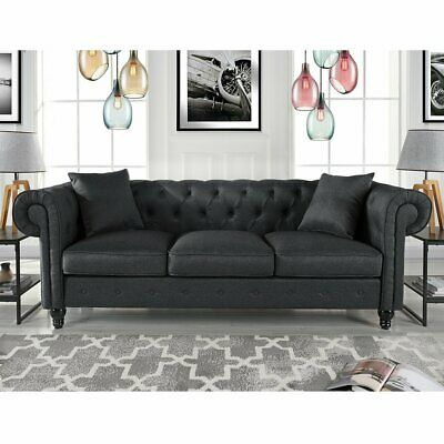 Strange Harper Bright Designs Linen Fabric Chesterfield Sofa Couch Pabps2019 Chair Design Images Pabps2019Com