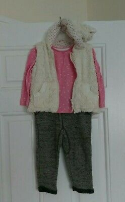 Baby Girls Outfit Tops,Gillet, jogging bottoms Next,Nutmeg 18-24 Months 1 1/2-2