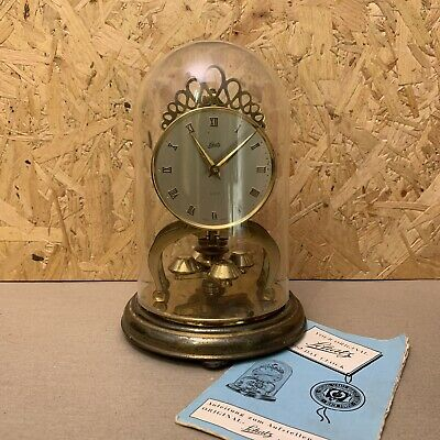 Vintage 1960 Schatz 400 Day Clock 2 Jewels with Dome & Manual - German