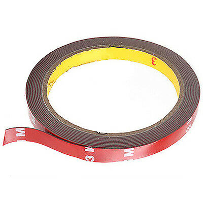 Double Sided Foam Tape 3M Acrylic Auto 10ft Long Roll Doublesided Mounting 10mm