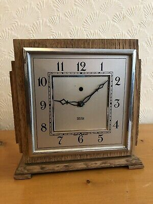 Vintage Smiths Electric mantle Clock, UNTESTED. Good Condition, SOLID OAK