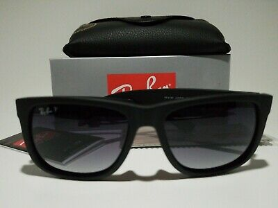 New Ray Ban Justin Polarized Rb4165 622 T3 Black Grey Gradient 54 145