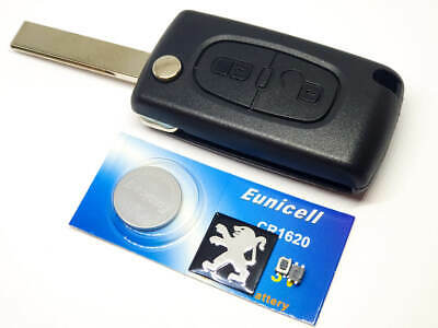 Ref68 New Peugeot 107 207 307 308 2 Button Remote Key Fob Case Shell Repair Kit