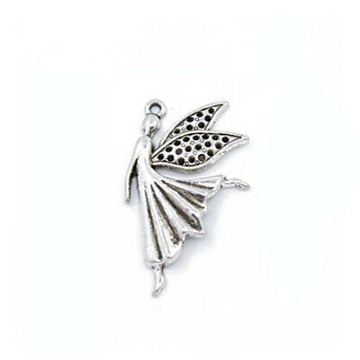 Fairy Charm//Pendant Tibetan Antique Silver 26mm  30 Charms Accessory Jewellery
