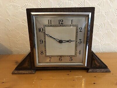 Vintage Smiths (English Clocks Ltd)8 Day mantle Clock, SPARES OR REPAIRS.