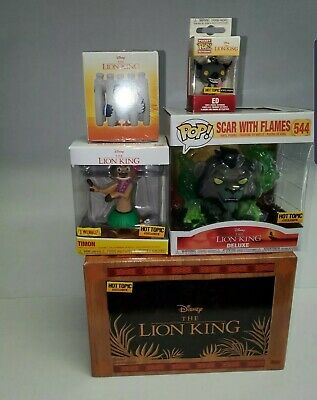 Funko Pop Scar with Flames Lion King Hot Topic Exclusive Mystery Box. Non Chase