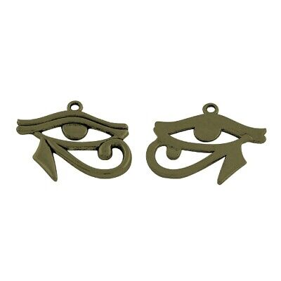 Egyptian Eye Of Horus Pendant Tibetan Steampunk Antique Bronze 32mm  5 Charms