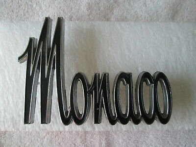 NEW NOS Mopar 1965-66 Dodge Monaco Fender Qtr Side Chrome Emblem, PN 2524723