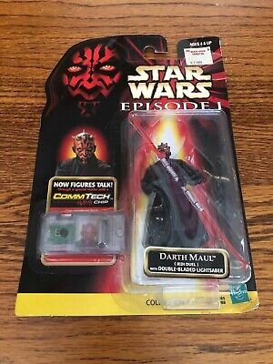 "Star Wars Episode 1 TPM Darth Maul Jedi Duel 3.75"" Action Figure MOC 1988 Hasbro"