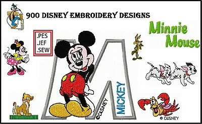 900 Disney Machine Embroidery Pattern Designs (PES, HUS, JEF, SEW)