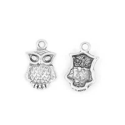 Owl Charm/Pendant Tibetan Antique Silver 21mm  10 Charms Accessory DIY Jewellery