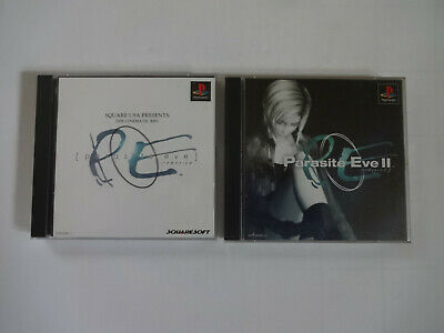 "SONY PlayStation 1 ""PARASITE EVE"" & ""PARASITE EVE 2"" Set PS1 NTSC-J Japan Import"