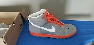 low priced b035c 1159a NEW Nike Dunk High Orange Grey and White Men s Size 12 317982 012 NEW 2012