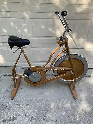 7d47db30984 Vintage 1970's Schwinn XR7 Exercise Bike Gold Copper Spinner Fitness  Equipment