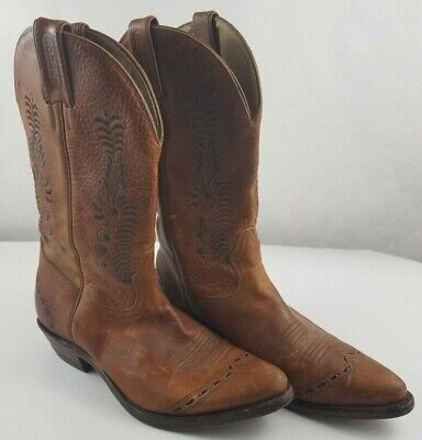 0f4372b1fab BOULET CANADA BROWN Leather Cowboy Boots Mens Size 9.5 D - $53.95 ...