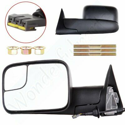 For 1994-97 Dodge Ram 1500 2500 3500 Power Side View Mirrors w//Brackets Pair