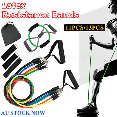 11/13X Latex Resistance Bands Yoga Strap Pilates Abs Exercise Fitness Tube Sport