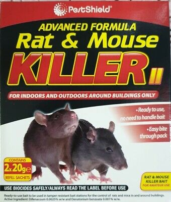 Rodent Poison Block Bait Killer - Strong Strength - Rat & Mouse Control POISON