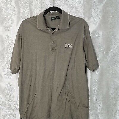 7f21fd0fb HUGO BOSS Men's Short Sleeve Polo Shirt GOLF Made in Italy Embroidered Size  L